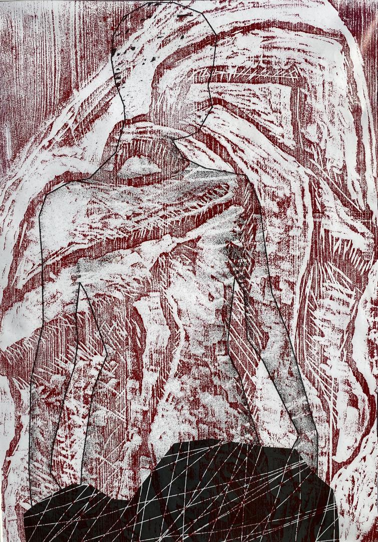 Karin Rupacher - Blatt 70x50cm